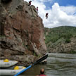 Cliff Jumping into the Colorado River